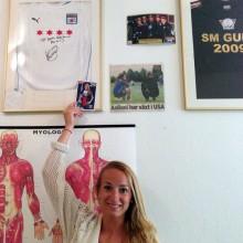 Kosovare Asllani på besök hos Pierre på Creativ Friskvård
